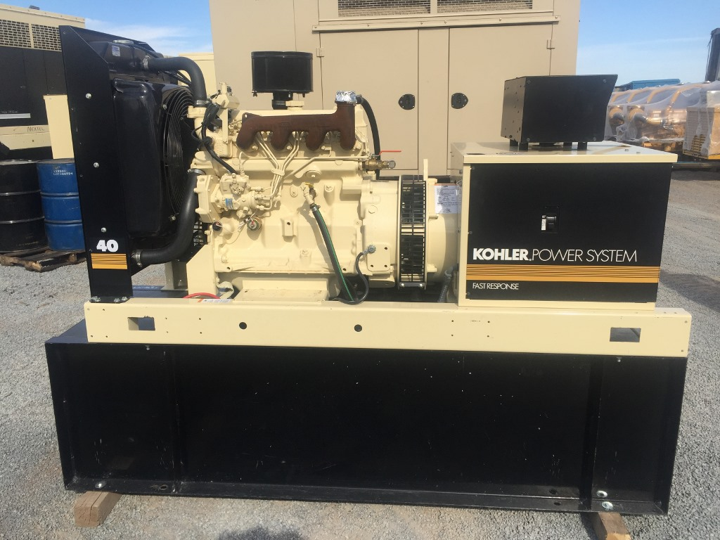 40 kw generator set 2001 kohler only 561 hours john deere engine serviced ebay. Black Bedroom Furniture Sets. Home Design Ideas