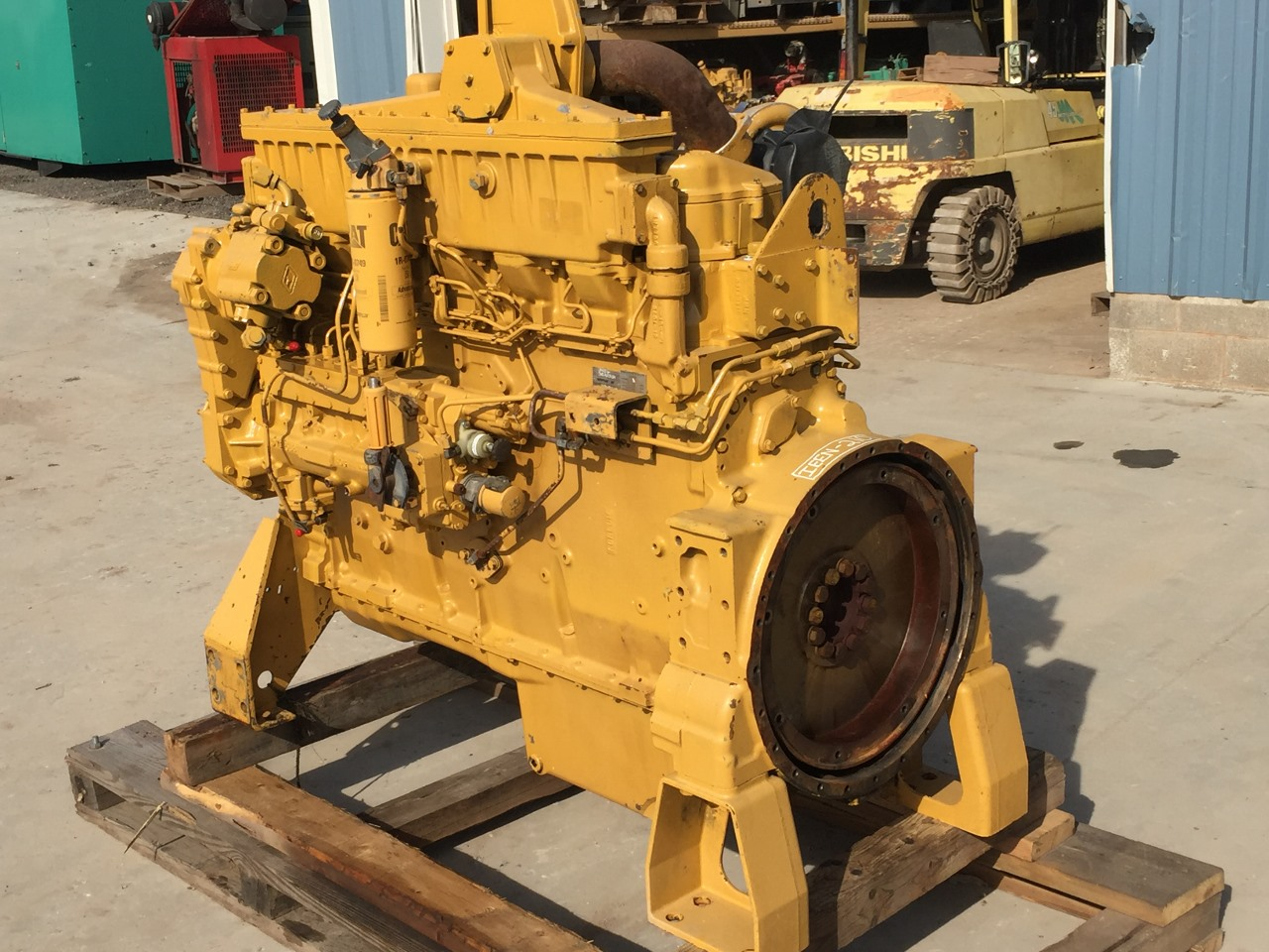 Caterpillar 3406c Industrial Engine  Only 3567 Hours Since