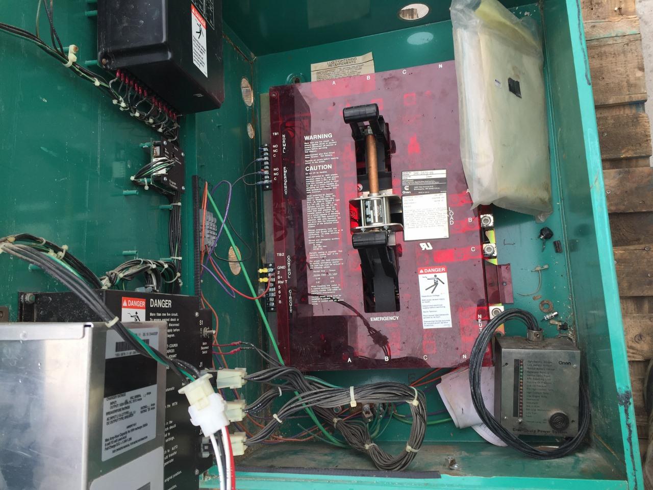 1994 cummins onan automatic transfer switch 150 amp, 480 volts