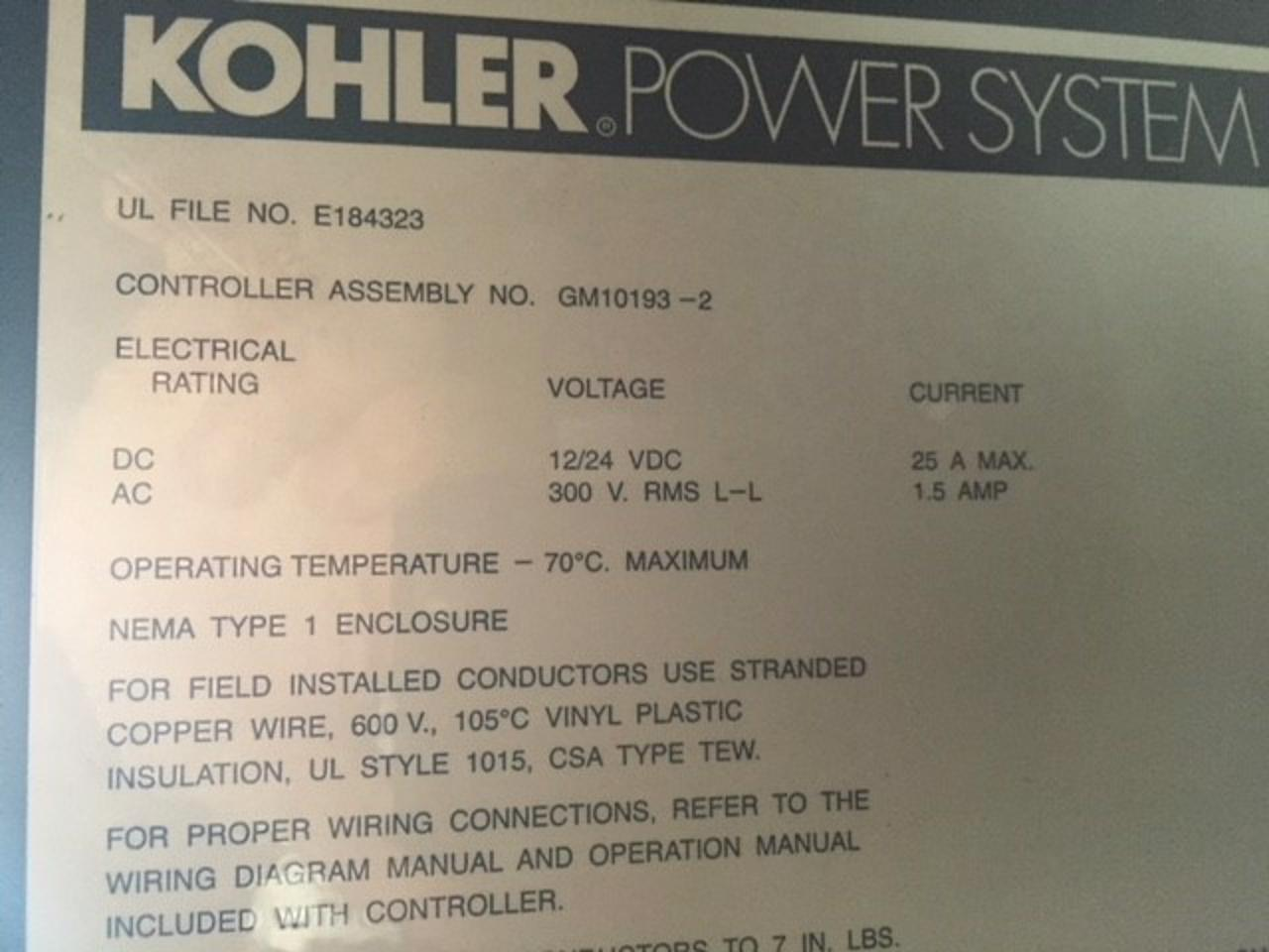 12 Lead 480 Volt Generator Wiring Diagram Electrical Diagrams 2000 Kw Kohler Base Fuel Tank Sound Attenuated Power