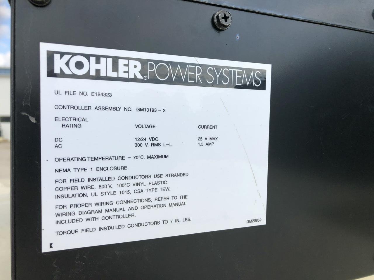 1000 Kw Kohler Generator Set 3 Phase Skid Mounted 120 240 Volts Motor Wiring Diagram
