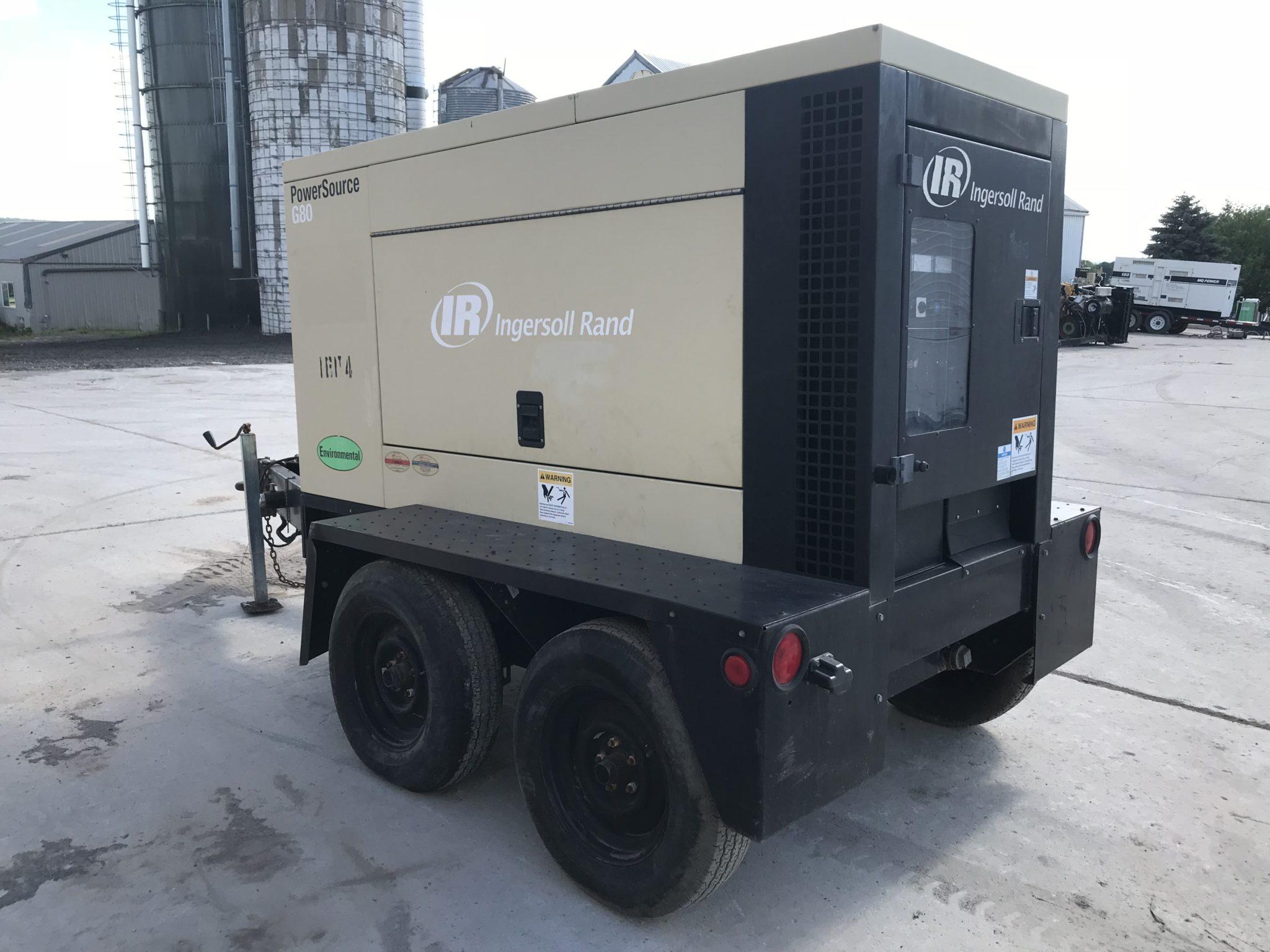 83 kva ingersoll rand generator set base fuel tank sound rh diesel powered  com