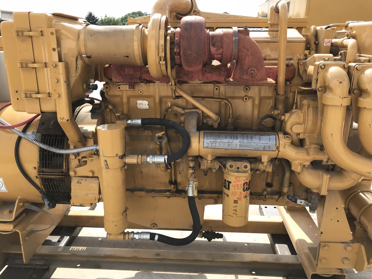 _350 kW Caterpillar 3406 Generator Set, Year 1997, 3 Phase, Low Hours, 208  volts