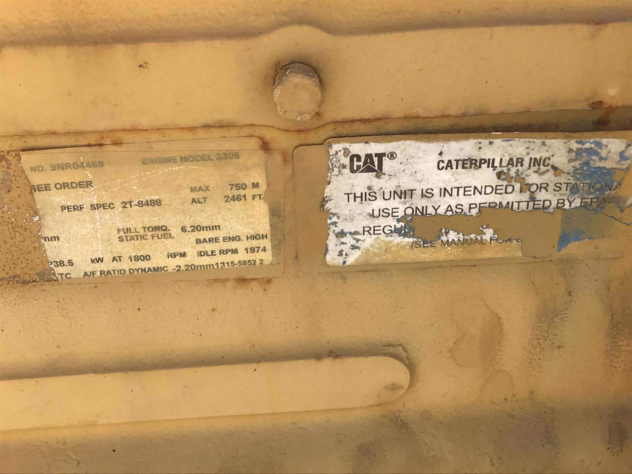 CAT 3306 DITA Industrial Engine, 345 HP, SAE 1, 14