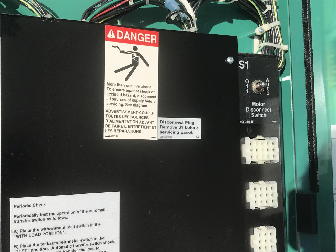 225 Amp Cummins Onan Transfer Switch Type 1 Enclosure Wiring Diagram