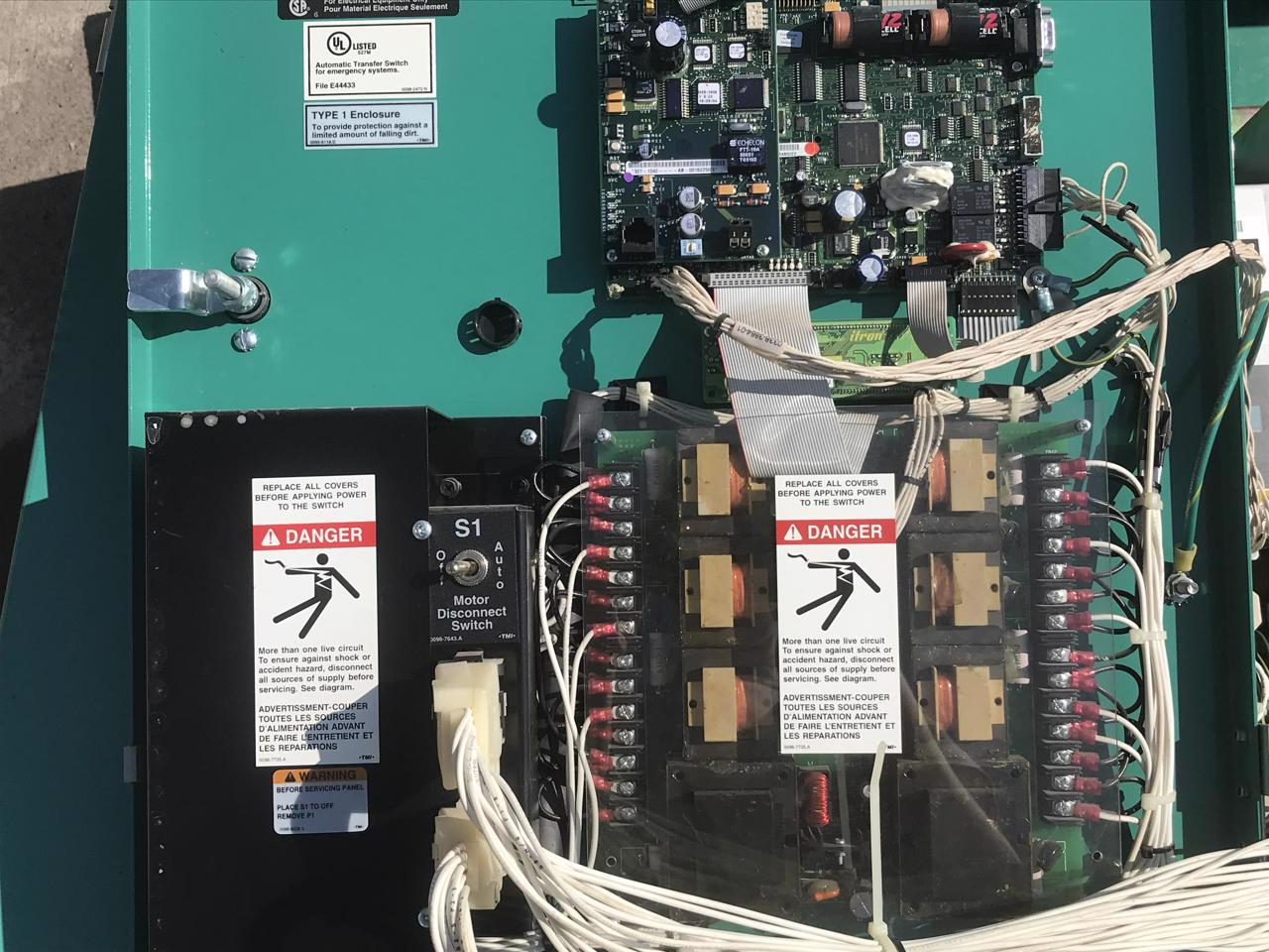 125 Amp Cummins Onan Transfer Switch Type 1 Enclosure Wiring Diagram