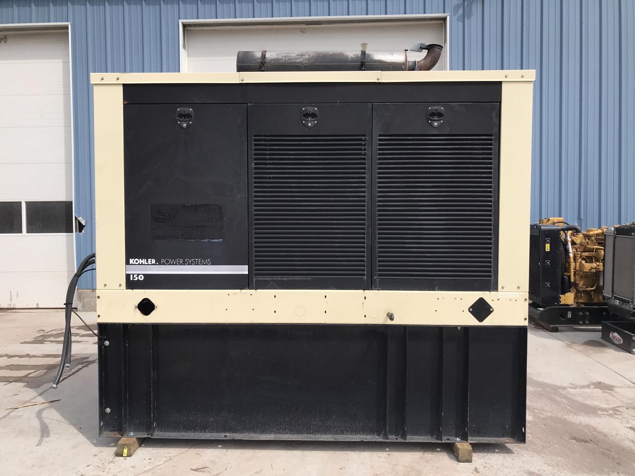 _160 kW Kohler Generator Set, 12 Lead, 336 Gallon Base Fuel Tank, Weather  Proof