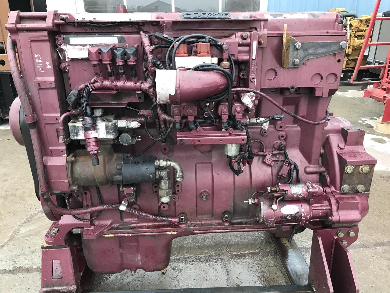 QSX15 Cummins Engine, Running Takeout of Industrial Drill, 600 HP