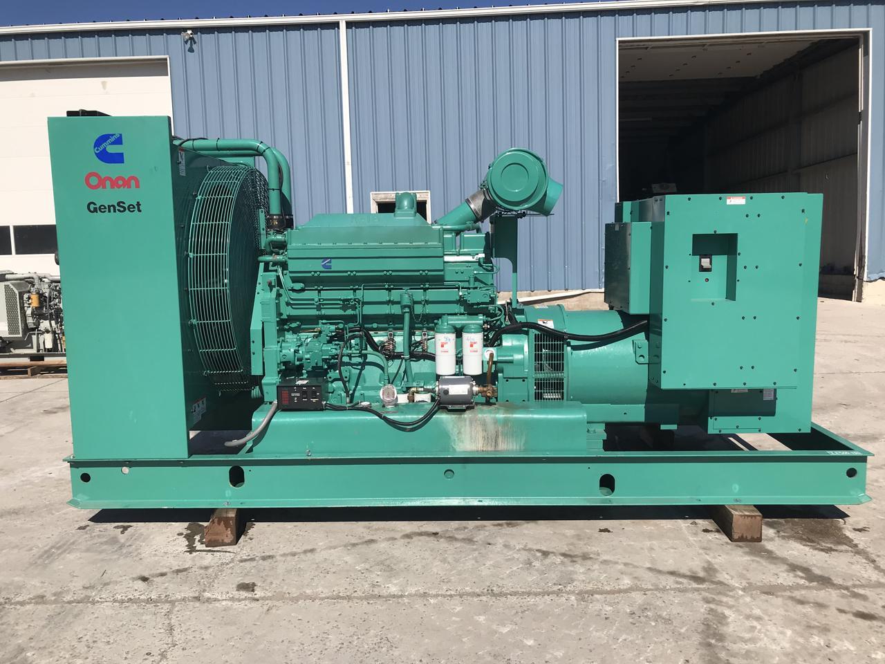 _500 kW Cummins Onan Generator Set, 1997, Base Fuel Tank, 12 Lead  Reconnectable